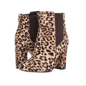 NWOB Sam Edelman Case Leopard Calf Hair Booties 9
